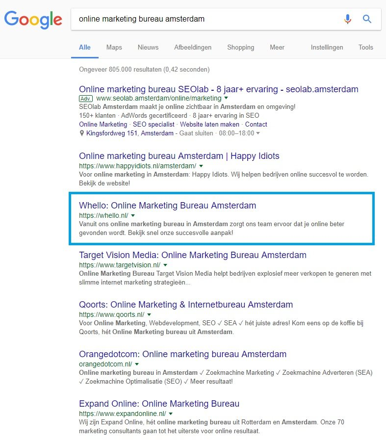 top ranking google