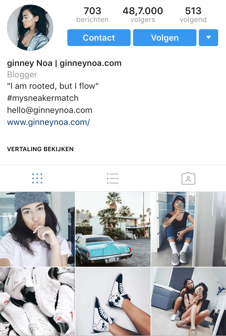 example-instagram-account-theme-shoes