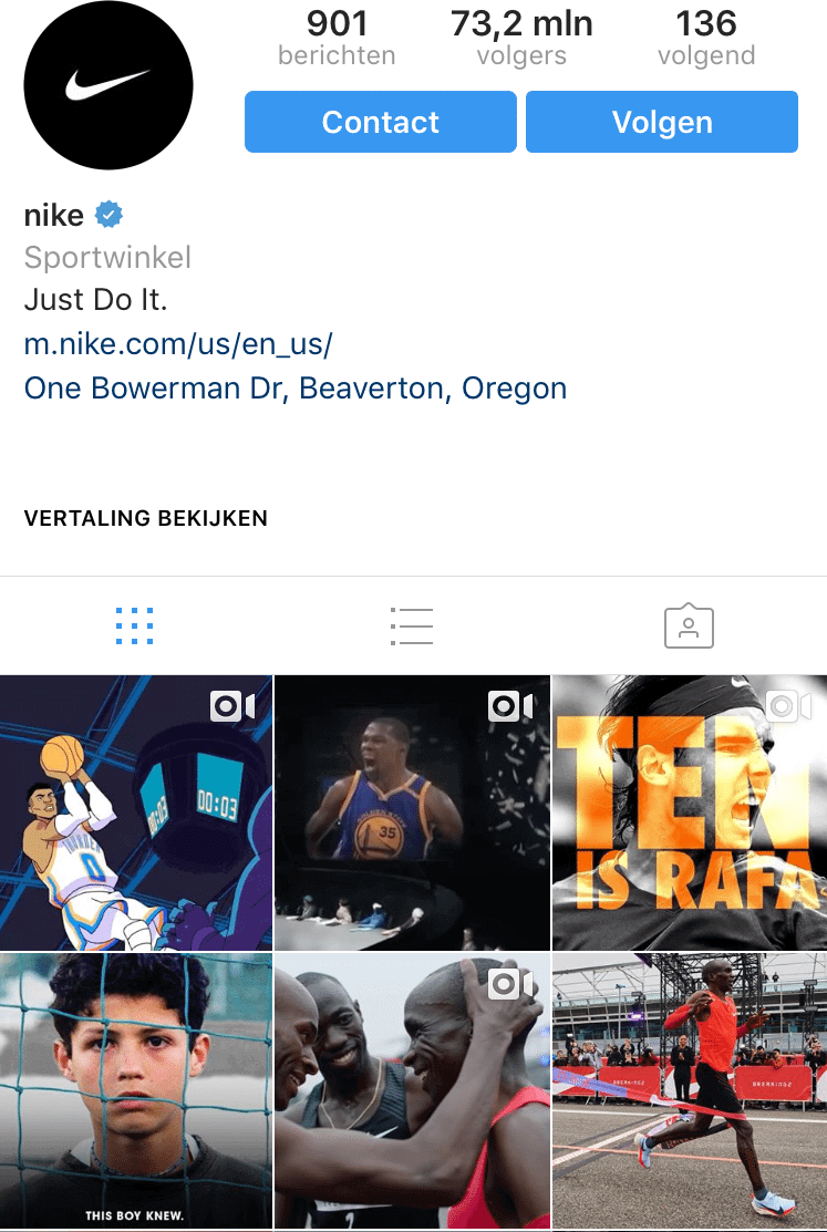 example-instagram-account-theme-sports